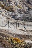 硫质喷气孔-火山的火山口 图库摄影