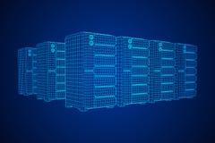 硬件设备电信服务器 向量例证