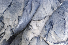 硬化与有趣的纹理的火山的熔岩 库存照片