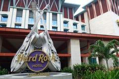 硬岩旅馆圣淘沙 免版税库存图片