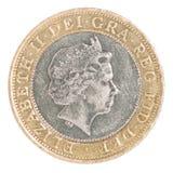 硬币两磅 库存照片