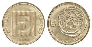 硬币以色列agorot 库存照片