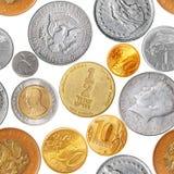 硬币仿造无缝 免版税库存照片