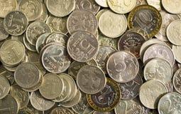 硬币卢布 免版税库存图片
