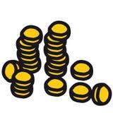硬币向量 库存例证
