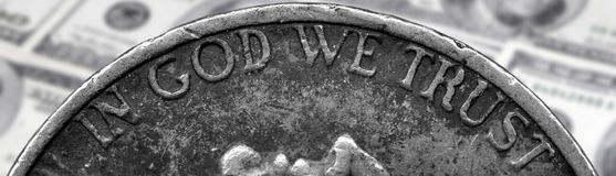 硬币和美国金钱 库存照片