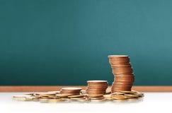 硬币图表股市 库存照片