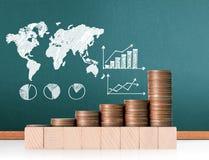 硬币图表股市 免版税库存图片