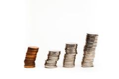 硬币图表-储蓄图象 库存照片