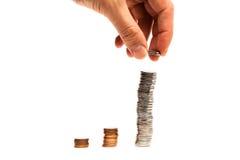 硬币图表-储蓄图象 免版税库存照片
