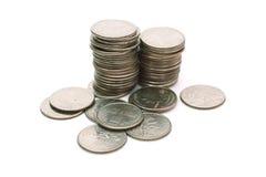 硬币堆我们 免版税库存图片