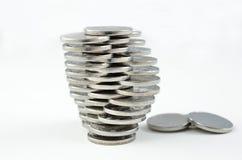 硬币堆数 免版税库存照片