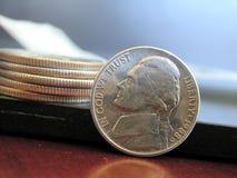 硬币堆积了 免版税库存照片