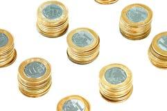 硬币堆 库存图片