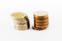 硬币堆 免版税图库摄影