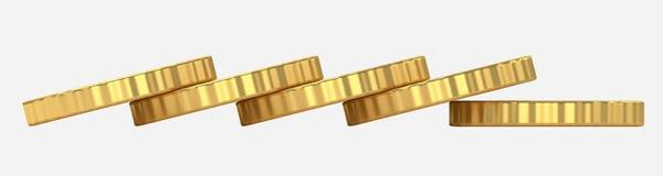 硬币堆3d例证 免版税图库摄影