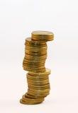 硬币塔 免版税库存照片