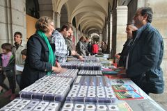 硬币市场在马德里 免版税库存照片