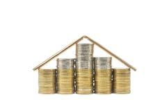 硬币房子 免版税图库摄影
