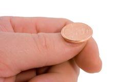 硬币抛 免版税库存图片