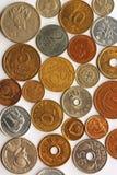 硬币拼贴画 库存照片