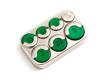 硬币持有人moneybox 免版税库存图片