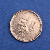 硬币捷克金属 库存图片