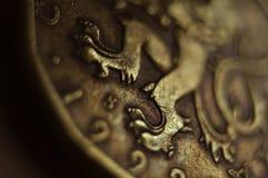硬币捷克korona 库存照片