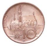 硬币捷克korun 库存图片