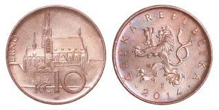 硬币捷克korun 免版税库存照片