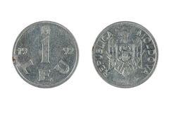 硬币摩尔多瓦 免版税库存图片