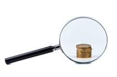 硬币放大器栈 图库摄影