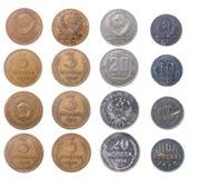 硬币查出俄语 免版税库存照片
