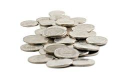 硬币查出瑞典白色 库存图片