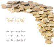 硬币查出的分散 免版税库存照片