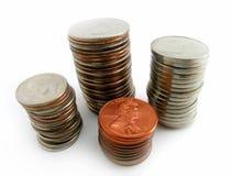 硬币栈 库存图片
