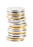 硬币栈 库存照片