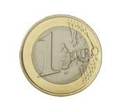 硬币欧元一 免版税图库摄影