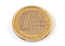 硬币欧元一 免版税库存图片