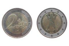 硬币欧元二 图库摄影