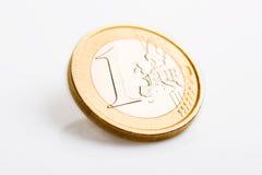 硬币欧元查出一 库存照片