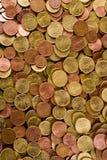 硬币欧元纹理 库存图片