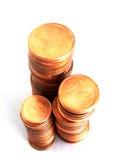硬币欧元货币 库存照片