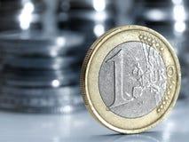 硬币欧元 库存图片