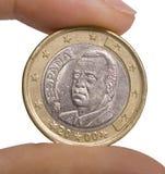 硬币欧元 免版税图库摄影