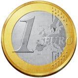 硬币欧元 库存例证