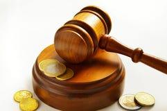 硬币法律 免版税库存照片