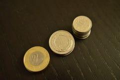 硬币波兰2 zÅ '1 zÅ '10 gr 图库摄影