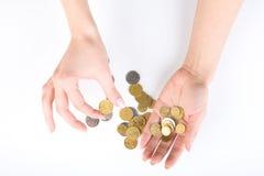 硬币现有量 免版税图库摄影
