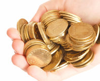 硬币现有量 库存照片